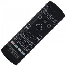 Controle Remoto Air Mouse com Mini Teclado e Mouse Universal Smart TV / PC / TV Box / Playstation / Xbox (Função Aprendizagem)