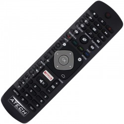 Controle Remoto TV LED Philips 32PFH5501 / 40PFH5501 / 49PFH5501 com Netflix (Smart TV)