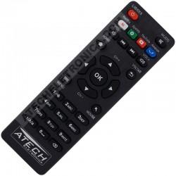 Controle Remoto Smart TV Box Aquário STV-2000 com Teclas Netflix / Spotify / Youtube / Amazon