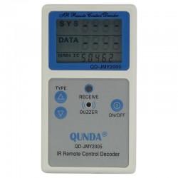 Testador de Controle Remoto com Frequencímetro Digital QD-JMY2005 (IR Remote Signal Tester)