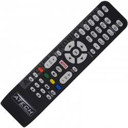 Controle Remoto TV LED AOC RC1994713 / LE32S5760 / LE43S5760 / LE43S5970 / LE43U7970 com Netflix (Smart TV)