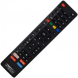 Controle Remoto TV LED Philco com Netflix / Youtube / Globo Play / Prime Vídeo (Smart TV)