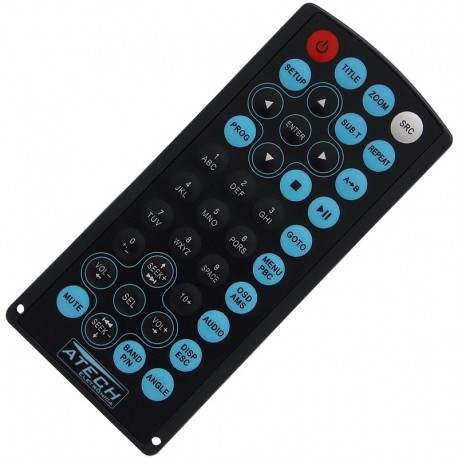 Controle Remoto DVD Player Automotivo H-Buster HBD-7680AV / HBD-7688AV / HBD-7700 / HBD-9150AV / HBD-9200AV
