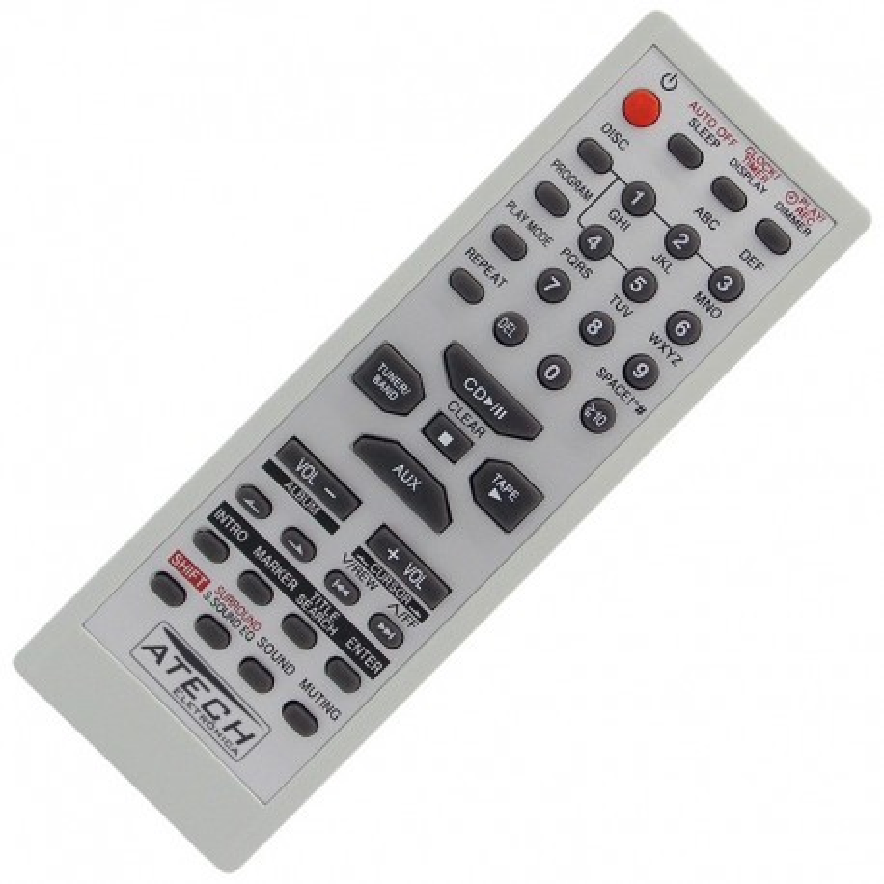 Controle Remoto Aparelho de Som Panasonic EUR7711150 / SA-PM19 / SA-PM193 / SC-AK220 / SC-PM193 / SC-PM19K
