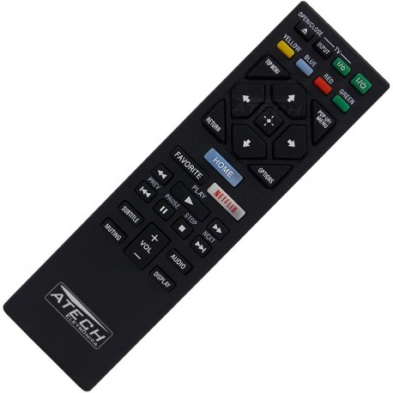 Controle Remoto Blu-Ray Sony RMT-VB100U / BDP-BX350 / BDP-BX650 / BDP-S1500 / BDP-S3500 / BDP-S5500 / BDP-S6500 com Netflix